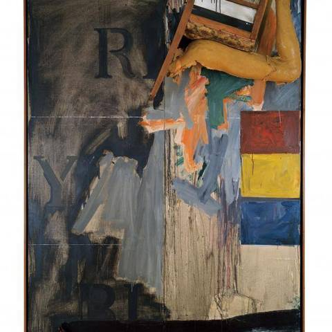 /Jasper Johns painting