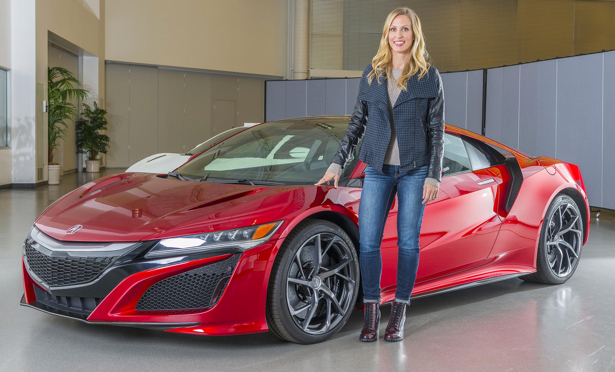 Transportation Design alumna Michelle Christensen with Acura