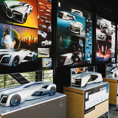 futuristic model cars