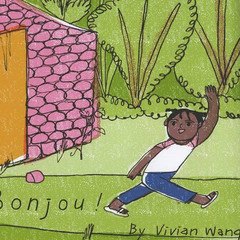 /Child waving illustration by Vivian Wang
