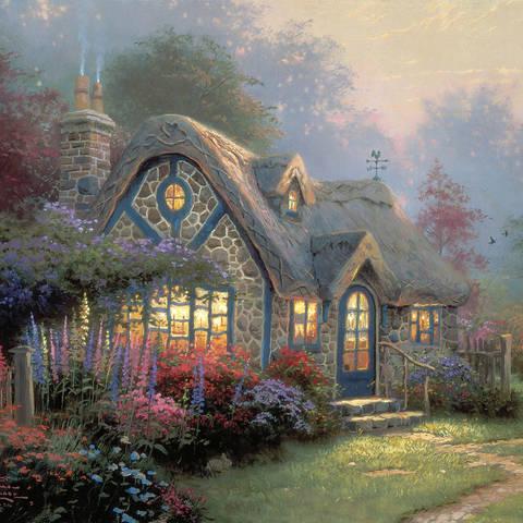 /Thomas Kinkade, Candlelight Cottage, 1996. Courtesy of Thomas Kinkade Studios. (via Artsy)
