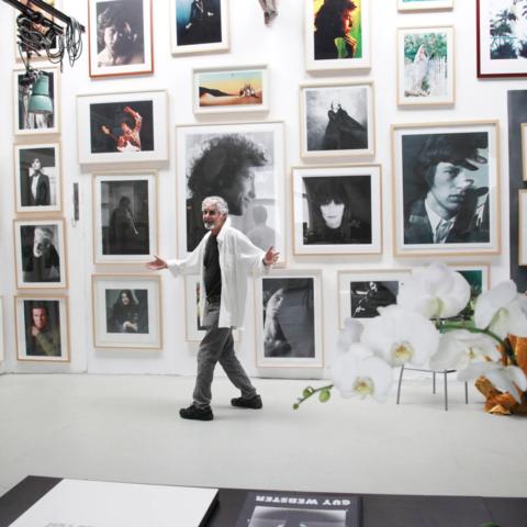 /Mr. Webster at his Venice, Calif., studio in 2014. (Lisa Gizara via NY Times)