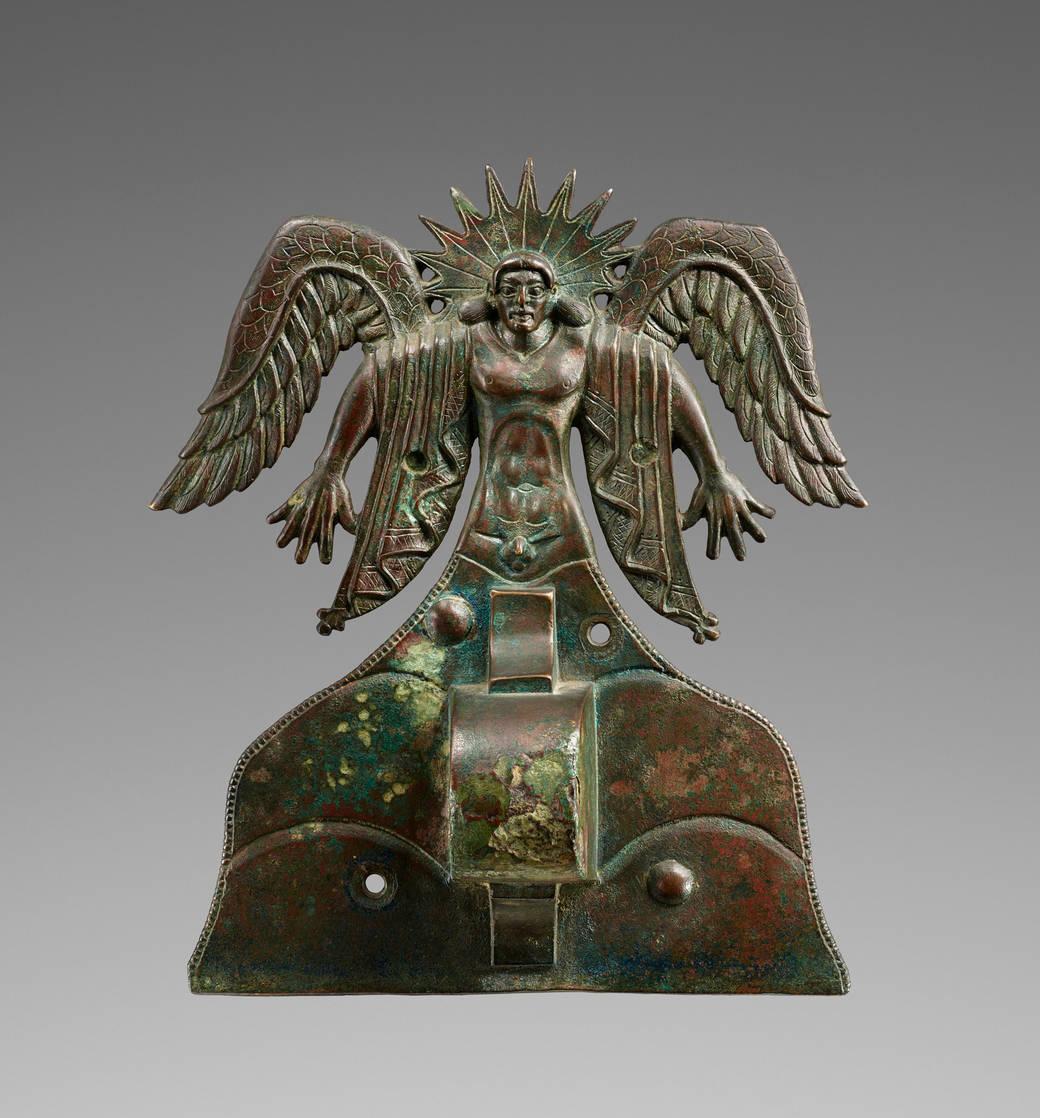 Applique Depicting the Sun God Usil, Etruscan, 500–475 B.C.