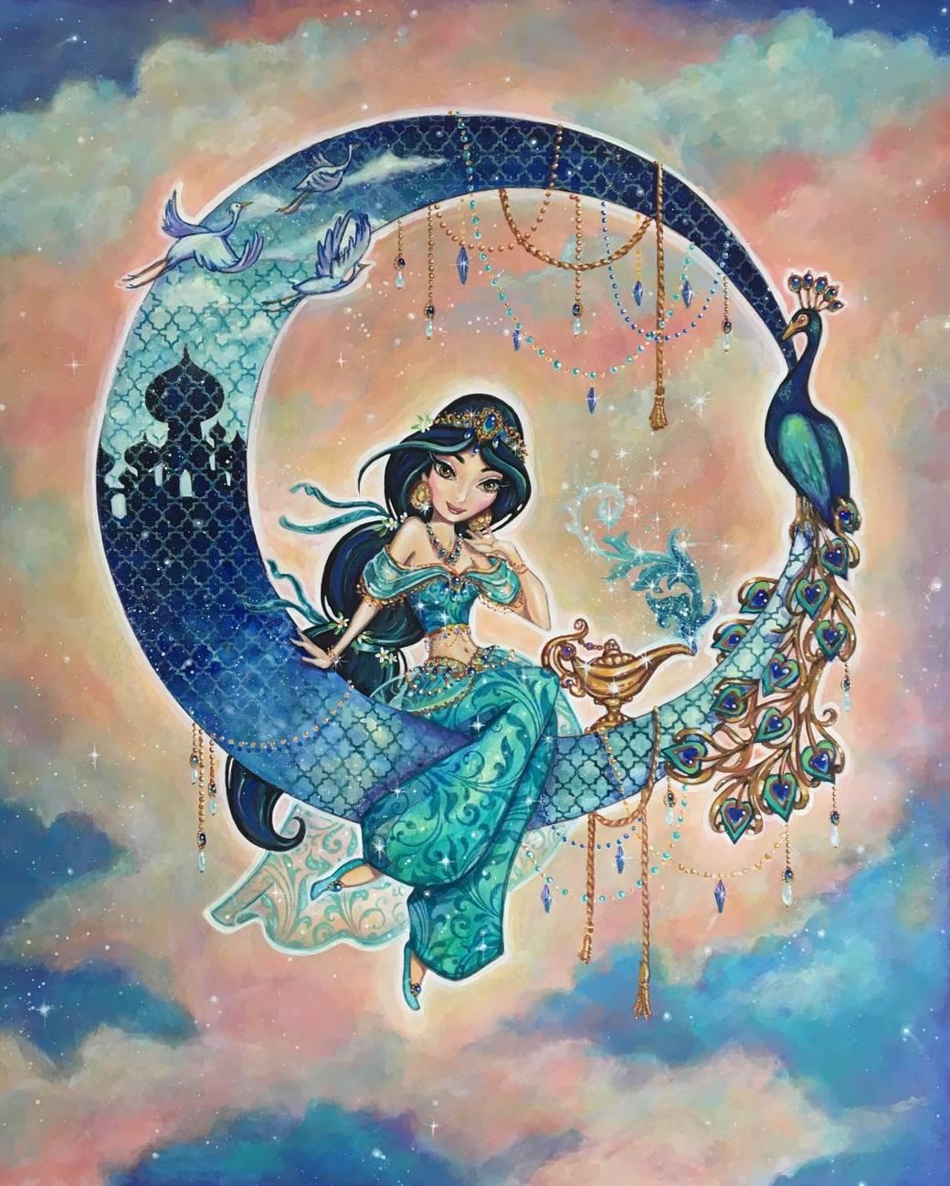 Princess Jasmine portrait by John Coulter