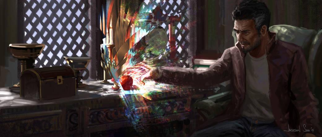Doctor Strange keyframe art by Jackson Sze