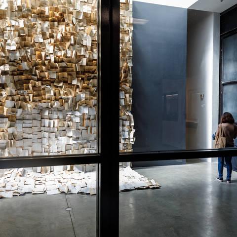 Tomes exhibition entrance
