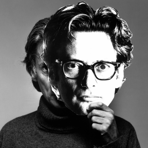/Richard Avedon with mask in a 1978 photo by Gideon Lewin. (Gideon Lewin via CNN.com)
