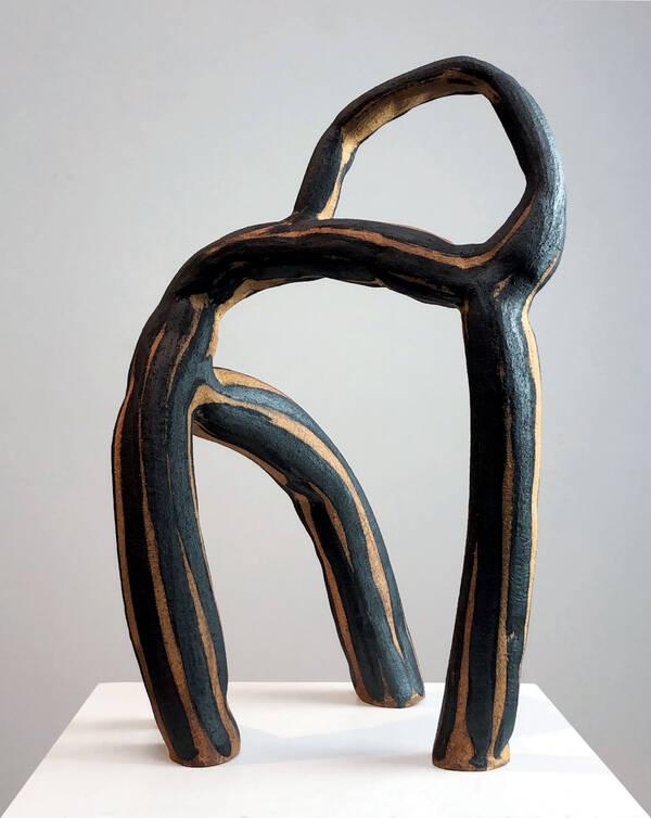 Equine (2019), stoneware with underglaze, 22