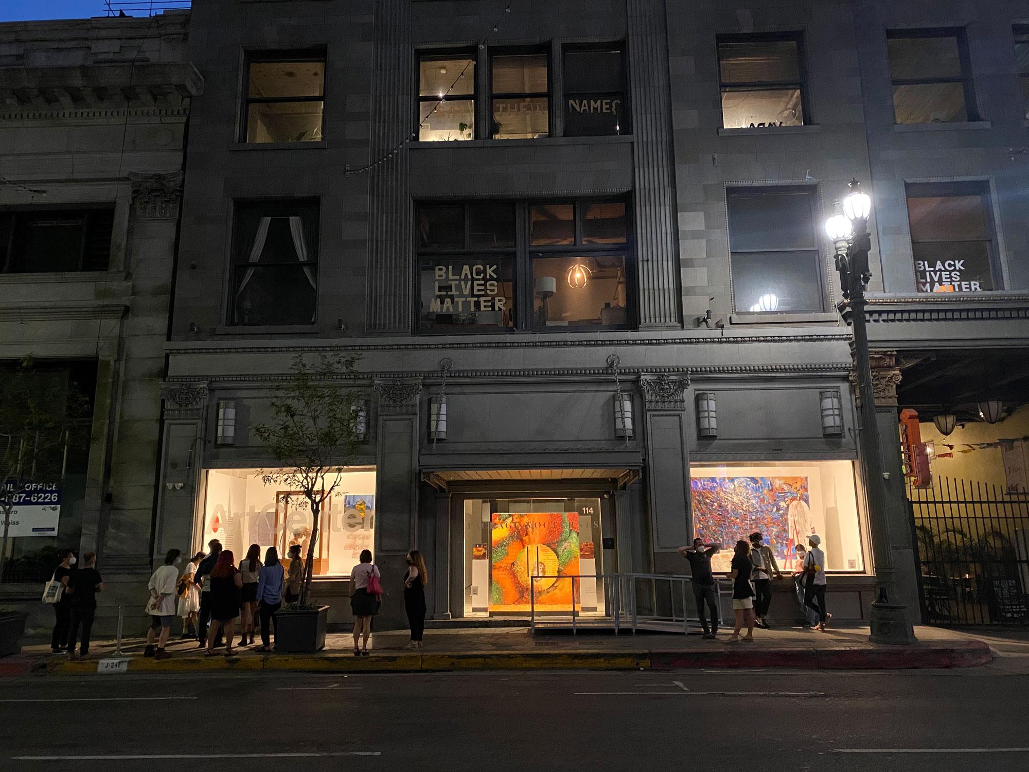 Windows of ArtCenter DTLA gallery.