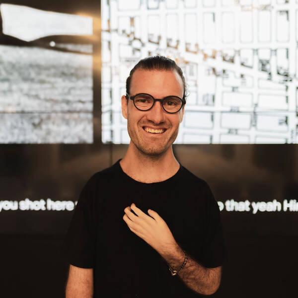 Portrait of Graphic Design alum, disability rights advocate, designer and Designmatters and Interaction Design Assistant Professor Josh Halstead.