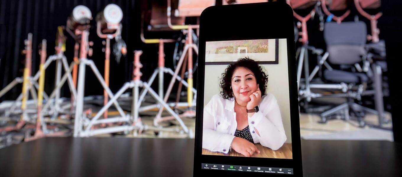 Film alumna, director, writer and producer Ana Lydia Monaco. Portrait by Juan Posada.