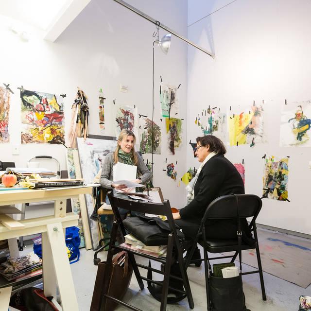 /women meeting in artist studio