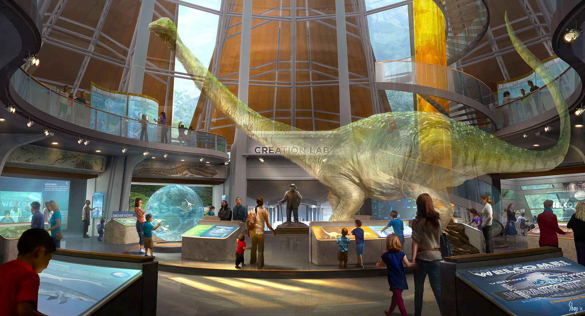 Jurassic World concept art by Craig Shoji